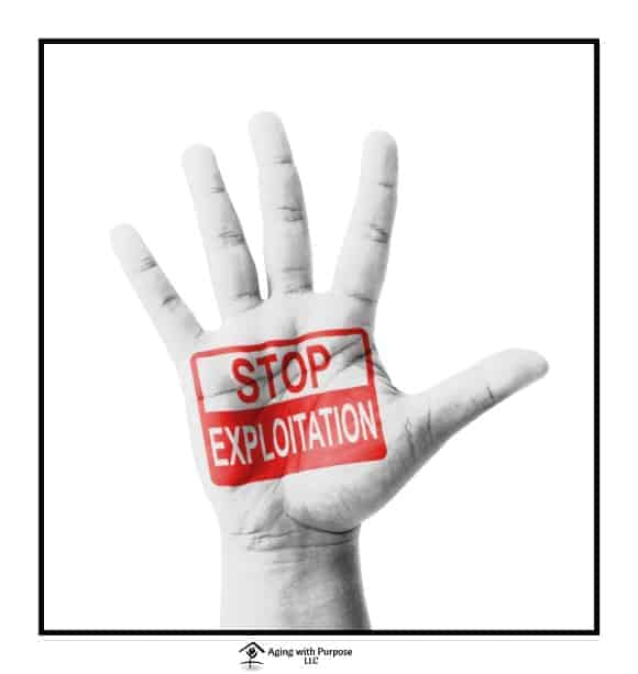 Financial Exploitation in Elder abuse - aging with purpose llc - elder abuse advocacy - nursing home negligence awareness
